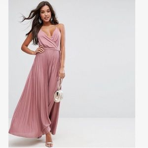 ASOS Blouson Wrap Maxi Dress